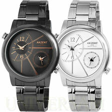 Runde Akzent Armbanduhren mit mehreren Zeitzonen