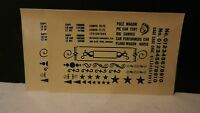 Champ HO Scale Decal Set K-5 Circus Data, Blue, NOS