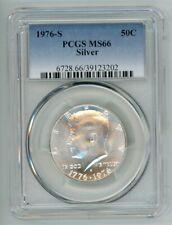 1976 S SILVER KENNEDY HALF DOLLAR 50C PCGS MS66 39123202