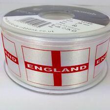 1m X Patriótico St George's Cross Bandera de cinta de 35 mm de ancho Blanco / Rojo