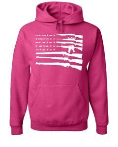 American Flag Hoodie 2nd Amendment Gun Rights Homeland AR15 Sweatshirt