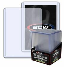(10) BCW Super Thick Topload Trading Card Holders 240pt 7mm Jerseys Patches