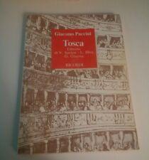 GIACOMO PUCCINI - TOSCA - LIBRETTO DI SARDOU/ILLICA/GIACOSA - RICORDI - 1989