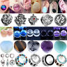 Stainless Steel Organic Ear Gauges Tunnels Flesh Plugs Saddle Flare Stretcher