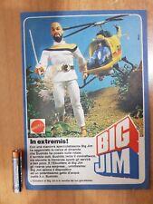 PUBBLICITA' ADVERTISING BIG JIM DR.BUSHIDO ELICOTTER BIG JIM - GIG