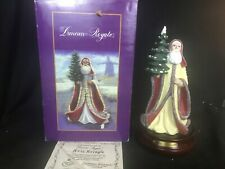 "Duncan Royale Kris Kringle Santa Figurine Musical Numbered ""White Christmas"" Coa"