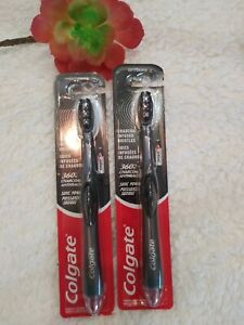 Colgate 360 Optic White charcoal Sonic Power Vibrating Toothbrush, Soft lot of 2