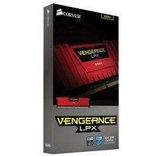 Corsair Vengeance® LPX 8GB DDR4 DRAM 2400MHz Memory Kit-Red(CMK8GX4M1A2400C16R)
