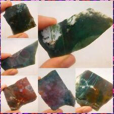 100% Natural Moss Agate Slice Mineral Specimen NC835-900 Free Shipping