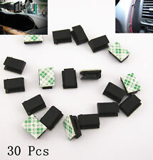 30 Pcs Auto Interior Data Tie Cable Mount Wire 3M Fixed Clips Holder For Toyota