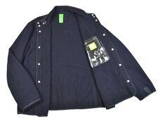 4605@ MA.Strum Massimo Osti Mens Coat Blue Wool Autumn Jacket Button Sz L