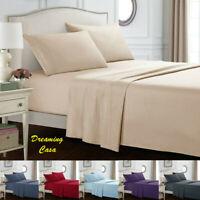 Egyptian Comfort 1800 Count 4 Piece Bed Sheet Set Deep Pocket Bed Sheets Set J1