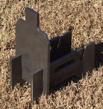 "3/8"" AR500 Hardened Steel Shooting Target 7x12 IDPA w/ Metal Ground Range Stand"