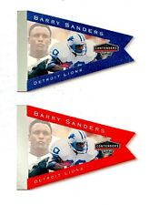 Barry Sanders, 1998 Playoff Contenders Pennants Red & Blue #35 - Detroit Lions