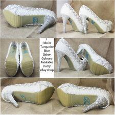 Hago Diamante Cristal Estrás Boda Zapato Pegatina Calcomanía-Azul Turquesa