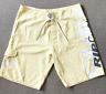 RipCurl Mens Yellow Board Shorts Size 40 100% Polyester Swimming Pockets