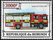 Derbyshire Fire & Rescue SCANIA P270 Fire Engine (Reg: FJ07 ANP) Vehicle Stamp