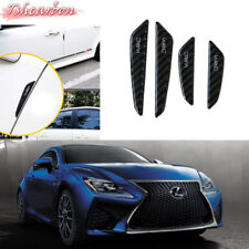 Carbon Black Side Door Edge Protection Anti-scratch Stickers For LEXUS 4PCS