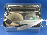 Rasiermesser-Set Lederriemen Box Seifenschale RAZOR + Solingen Schleifpaste NEU