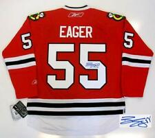 BEN EAGER SIGNED CHICAGO BLACKHAWKS JERSEY RBK RED HOME