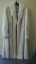 "VINTAGE 1970s WOMEN'S WHITE MINK COAT, MEDIUM, 46"" LONG, STYLED BY ABRAHAMSON"