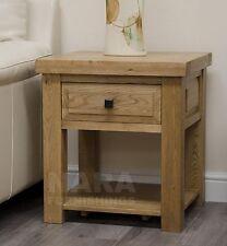 Grandeur solid oak furniture side end lamp table