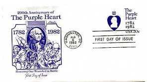 U603 The Purple Heart  embossed envelope,  Artmaster, FDC