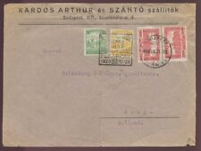 HUNGARY 1926 COVER to HOLLAND...BUDAPEST STAMP EXPO PMK