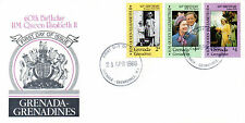 GRENADA G 1986 HM THE QUEEN 60th BIRTHDAY SET COMMEMORATIVES FIRST DAY COVER SHS
