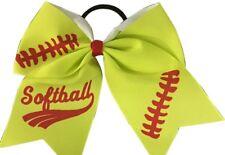 """Softball Hair Bows- 6.5 """" Softball Cheer Bows- Softball Hair Accessories"""