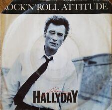 """Johnny Hallyday - Rock'n'Roll Attitude - Vinyl 7"""" 45T (Single)"""