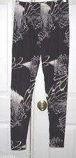 Leggins women plus size 92% polyester 8% spandex one size Black elastic waist