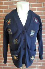 Vintage Brooks Brothers 1980's Mens Cotton Cardigan Sweater Golf Club Stitching