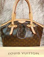 Authentic Louis Vuitton Tivoli GM Monogram Canvas Tote Bag with Dust Bag