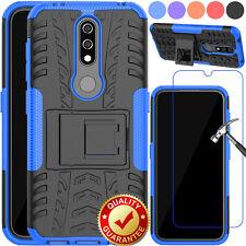 For Nokia 6.1 2018/2.1/2V/7.1/3.1/4.2 Shockproof Protector Case+Tempered Glass