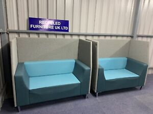 Triumph Office Reception Seating (2 X 2 Seater Booths) £595 Pair