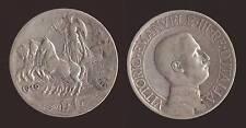 """1 LIRA 1910 QUADRIGA ARGENTO/SILVER - VITTORIO EMANUELE III """"NON COMUNE"""""""