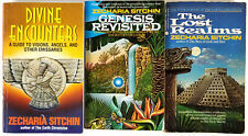 Zecharia Sitchin Lot of 3 The Lost Realms, Divine Encounters & Gensis Revisited