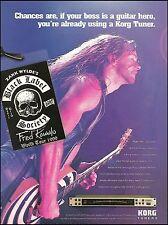 Black Label Society Zakk Wylde 1999 Korg Tuner ad 8 x 11 advertisement print