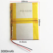 3000mAh Lipo Polymer Battery 7.4V For Power Bank Tablet  PDA  notebook 40140100
