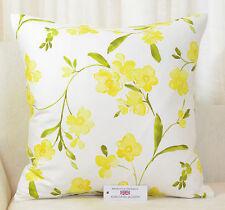 "CUSHION COVER 20""x20""  51cm sq.  Fryetts Rosemarie Yellow Floral 100% Cotton"