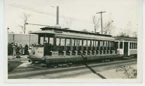 1930s Connecticut Company #614 Streetcar Open Bench Summer Car Trolley CT