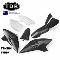 FOR YAMAHA TTR 50 PLASTIC BODY FENDER KIT SEAT BLACK BRAND NEW