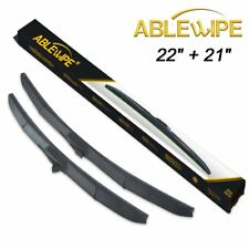 """ABLEWIPE For 22"""" + 21"""" Quality Hybrid Windshield Wiper Blades (Set of 2)"""