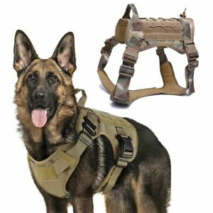 Military Tactical Dog Harness Front Clip Law Enforcement K9 Working Dog for MLXL