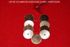 DREMEL  PROXXON LOT 10 LAME DE SCIE CIRCULAIRE  ACIER 22 MM + TIGE OFFERTE