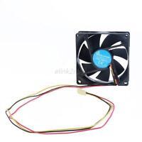 3 Pin 80mm PC CPU Cooling Fan Heatsinks Radiator For Desktop Computer 12V