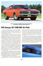 1971 Dodge Charger R/T 440 + Six-Pack Article - Must See !!