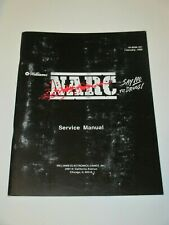 1989 WILLIAMS  NARC  MANUAL WITH FREE NARC FLYER