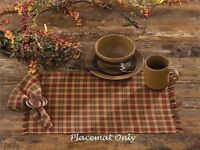 "Farmhouse Primitive INDIAN CORN Placemat Fall Autumn Earth Tones Cotton 13""by19"""